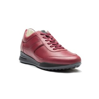 Tod's Men's Leather Allacciato Sport T Project Low Top Sneakers Shoes Dark Red