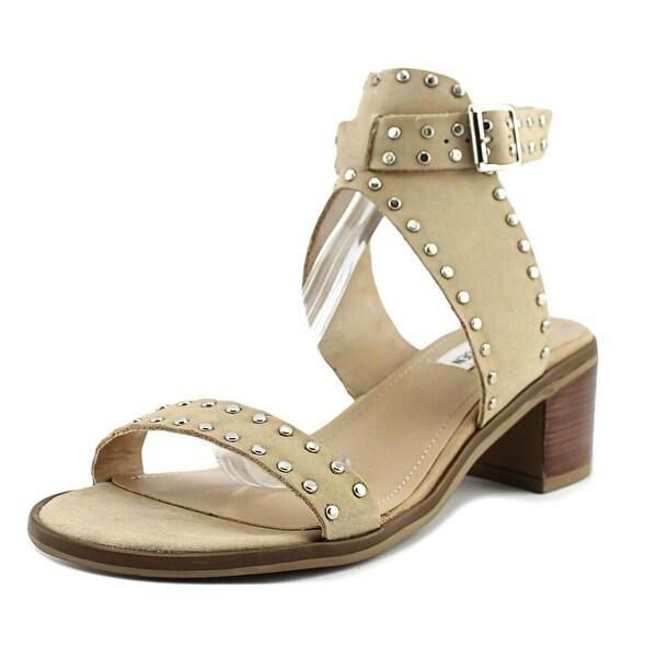 Steve Madden Gila Women Open-Toe Leather Tan Slingback Sandal