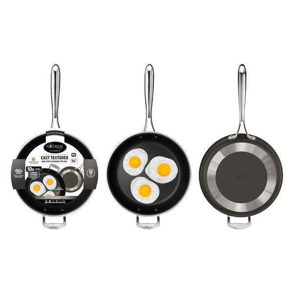 Gotham Steel Non Stick 14inch Cast Textured Round Fry Pan. Opens flyout.