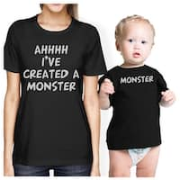 Created A Monster Mom and Baby Matching Gift Shirts Infant Tee