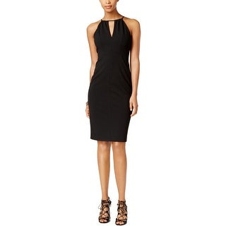 Betsey Johnson Womens Scuba Dress Crepe Keyhole - 6