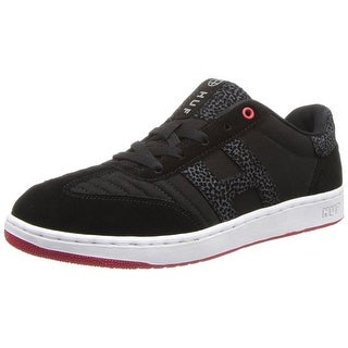 HUF Men's Arena Skateboard Shoe - black/red/elephant