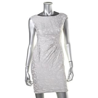 Lauren Ralph Lauren Womens Petites Jacquard Pleated Wear to Work Dress