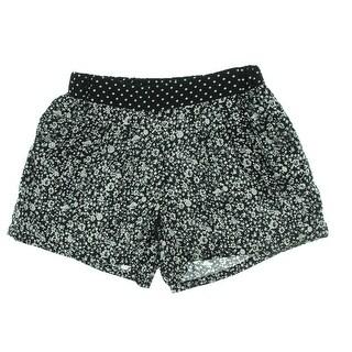 Be Bop Womens Juniors Casual Shorts Floral Print Polka Dot - S