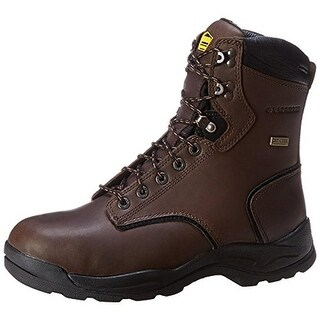 Lacrosse Mens Quad Comfort Leather Waterproof Work Boots - 8 wide (e)
