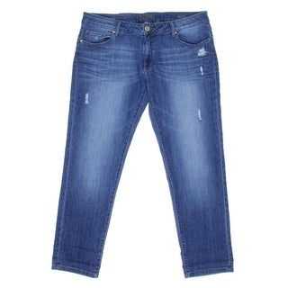 DL1961 Womens Riley Distressed Mid-Rise Straight Leg Jeans - 29