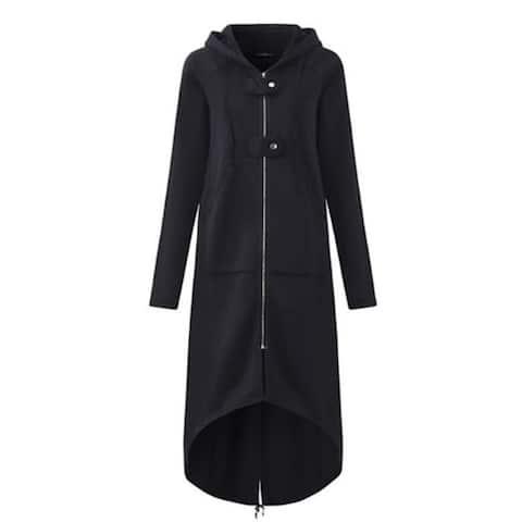 Women's Hoodies Casual Pockets Zip Up Hoodies Sweatshirt Hoodie Jacket