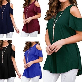 Cold Shoulder Tunic Tops