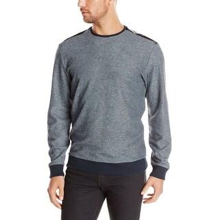 Calvin Klein CK Sweater XX-Large Heather Navy Blue Combo Crewneck Pullover - 2XL
