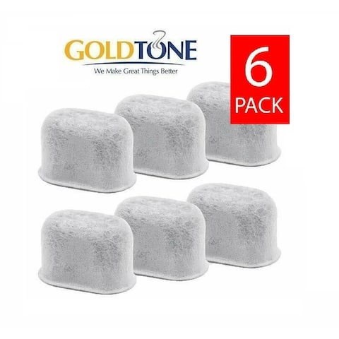 GoldTone Activated Charcoal Water Filters Replaces All KEURIG & BREVILLE Coffee Machines, Replacement 1.0 2.0 BWF100 - (6 Pack)