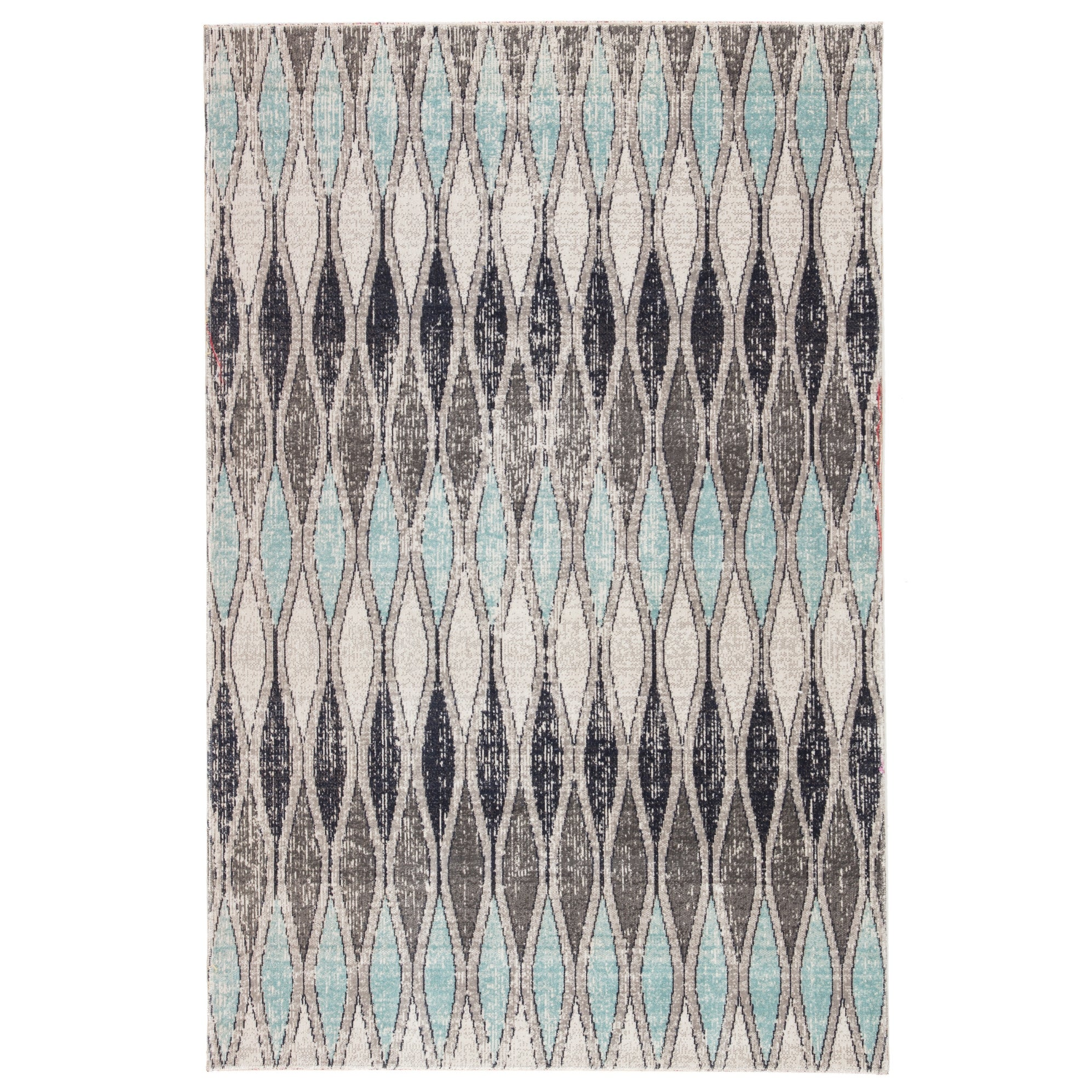 Hertford Grey Blue Indoor Outdoor Geometric Rug Overstock 27415295