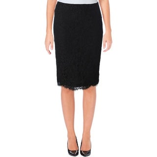 Lauren Ralph Lauren Womens Pencil Skirt Lace Scalloped