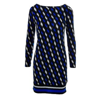 MICHAEL Michael Kors Womens Matte Jersey Printed Wear to Work Dress - S