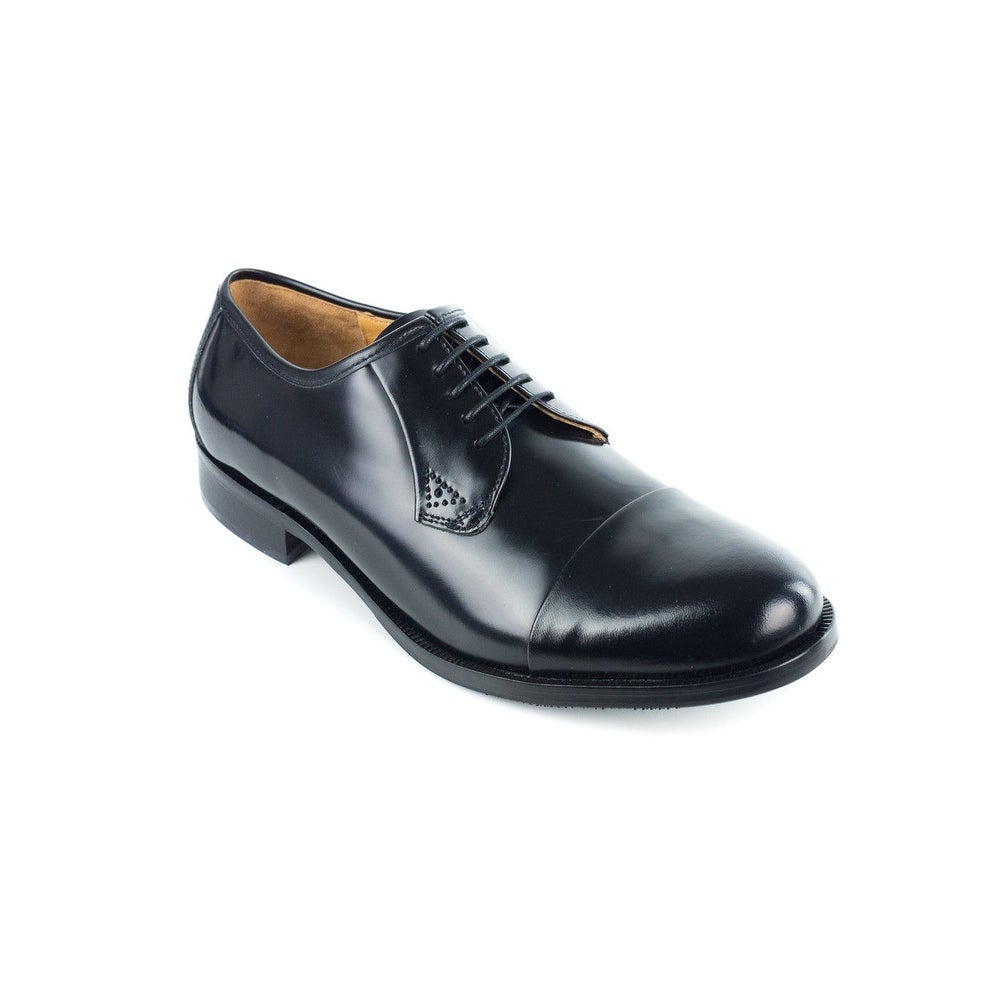 13b43f77f7 Shop Bruno Magli Men's Black Maly Polished Leather Derbys Oxfords - Free  Shipping Today - Overstock - 18184157