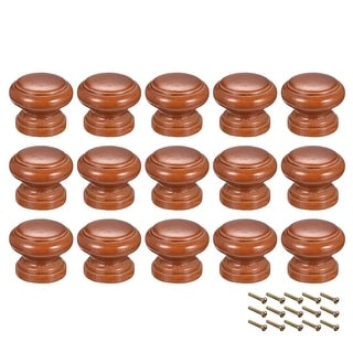 Round Pull Knob Handle 30mm Dia Cabinet Furniture Bedroom Kitchen Drawer 15pcs - 30mmx24mm(D*H)-15pcs
