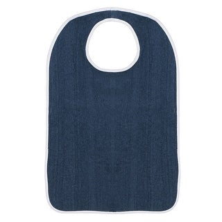Adult Sized Terry Bib with Hook & Loop Closure - 3 pack - Navy
