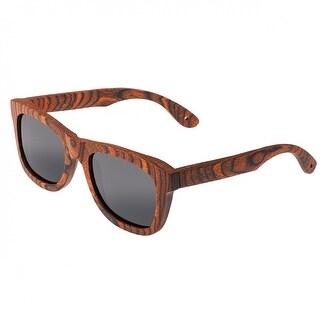 Spectrum Peralta Unisex Wood Sunglasses - 100% UVA/UVB Prorection - Polarized Lens - Multi