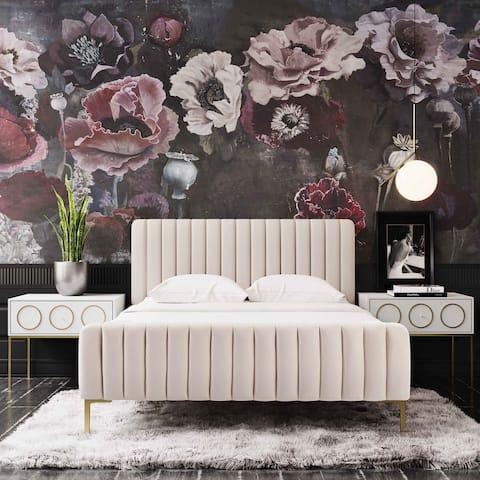 Silver Orchid Chatterton Velvet Bed