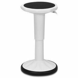 Costway Wobble Chair Height Adjustable Active Learning Stool Sitting Home Office White