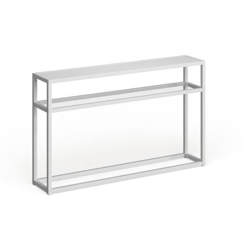 Baldrick Narrow Console Table - White