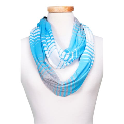 Tickled Pink Multistripe Jersey Infinity Scarf