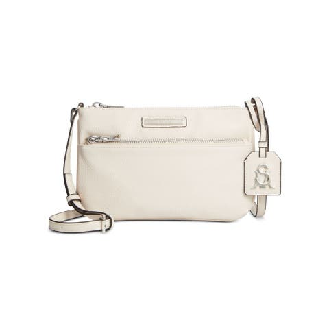 STEVE MADDEN Ivory Faux Leather Crossbody Handbag Purse
