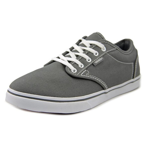 9d40f85fb6f3de Shop Vans Atwood Low Pewter White Sneakers Shoes - Free Shipping On ...