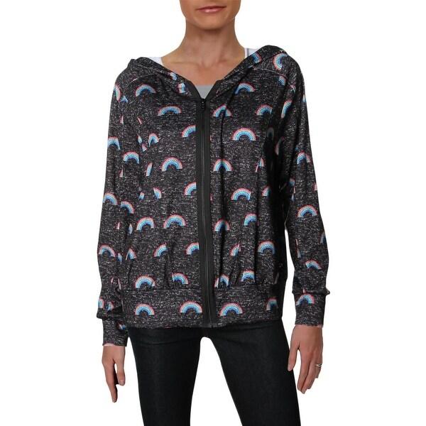39b335fb Shop Zara Terez Womens Hoodie Printed Zip-Front - L - Free ...