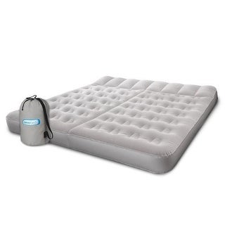 Aerobed 07514 King Sleep Basics Inflatable Air Mattress Bed with Two Zones - grey