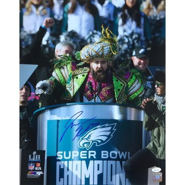 Jason Kelce Signed 16x20 Eagles Super Bowl 52 Parade Speech Photofile Photo  JSA 530edf7dc