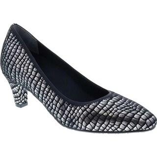 Ros Hommerson Women's Karat Printed Pump Silver Croc Leather