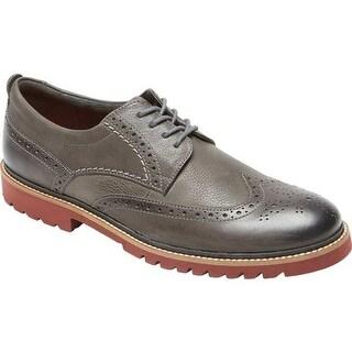 Rockport Men's Marshall Wing Tip Oxford Castlerock Grey Leather