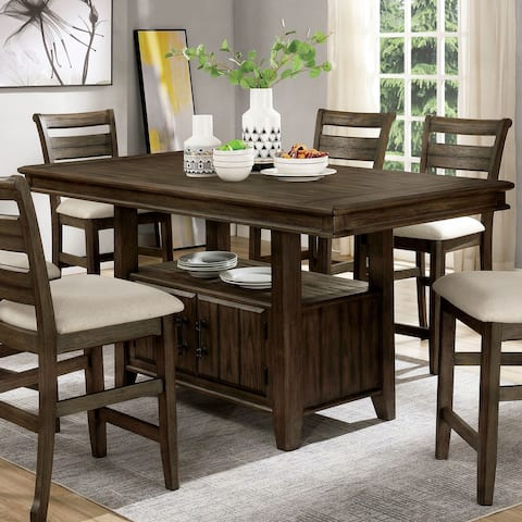 Furniture of America Norm Transitional Walnut 72-inch Dining Table