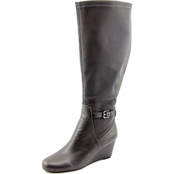 Isaac Mizrahi Krystal Wide Calf Women Gray Multi Boots