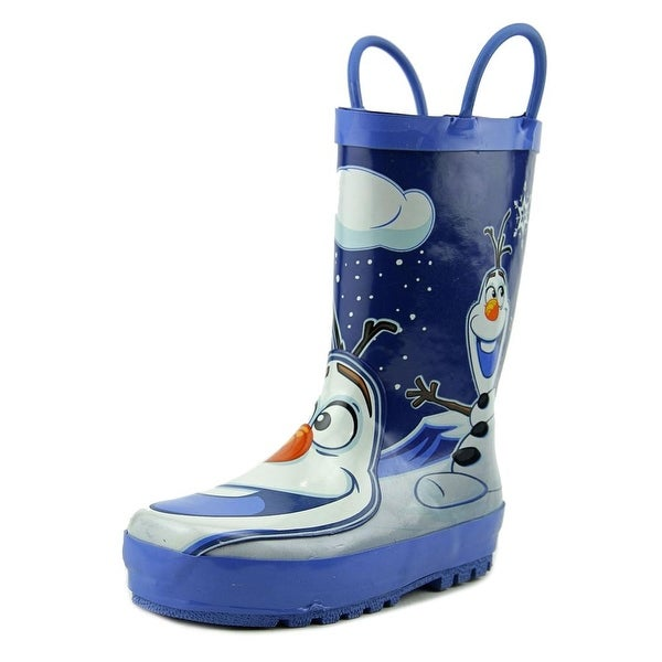 Western Chief Disney Frozen Olaf Youth  Round Toe Synthetic Blue Rain Boot