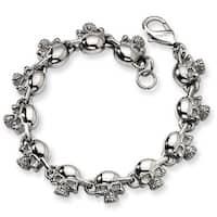 Chisel Stainless Steel Skull Bracelet
