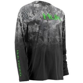 Huk Men's Kryptek Fade Icon Raid Small Long Sleeve Shirt