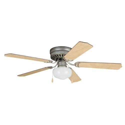 "Ellington Fans CC52 Celeste Deluxe 52"" 5 Blade Hugger Indoor Ceiling Fan with Reversible Motor, Blades and Light Kit"
