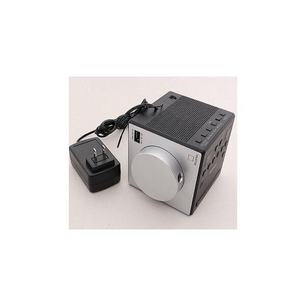 Sony ICFC1PJ Sony Clock Radio - 0.1 W RMS - Mono - 2 x Alarm - AM, FM - USB - Ma