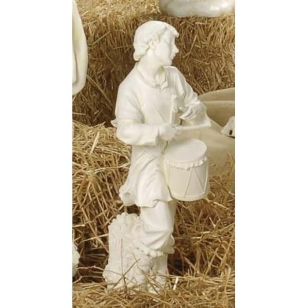 "27"" Joseph's Studio Drummer Boy Outdoor Christmas Nativity Statue - WHITE"