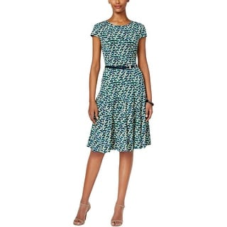 Jessica Howard Womens Wear to Work Dress Geo-Print A-Line