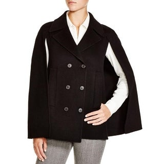 Theory Womens Kapalin DF Cape Coat Wool Cashmere Blend