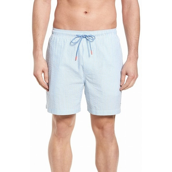 7320301258 Shop Southern Tide Striped Mens Seersucker Swim Trunks - Free Shipping On  Orders Over $45 - Overstock - 27299137