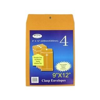 Medium Manila Clasp Envelopes - Pack of 12