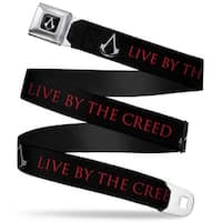 Assassin's Crest Full Color Black White Assassin's Crest Live By The Creed Seatbelt Belt