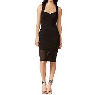 Guess Womens Cocktail Dress Sheer Shadow Striped