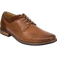 Deer Stags Men's Calgary Oxford Dark Tan Simulated Leather