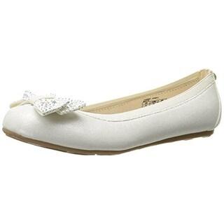 Stuart Weitzman Girls Fannie Jewel Rhinestone Shimmer Ballet Flats - 4 medium (b,m)