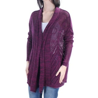 ROXY $59 Womens New 1607 Purple Open Cardigan Long Sleeve Sweater XS Juniors B+B