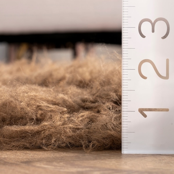 nuLOOM Hand-woven Flokati Wool Shag Area Rug